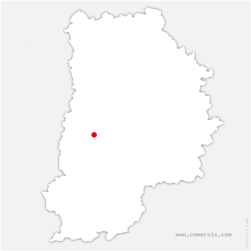 carte de localisation de Saint-Germain-Laxis