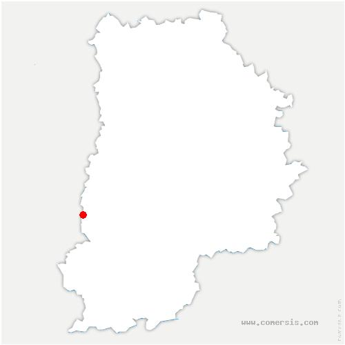 carte de localisation de Saint-Germain-sur-École