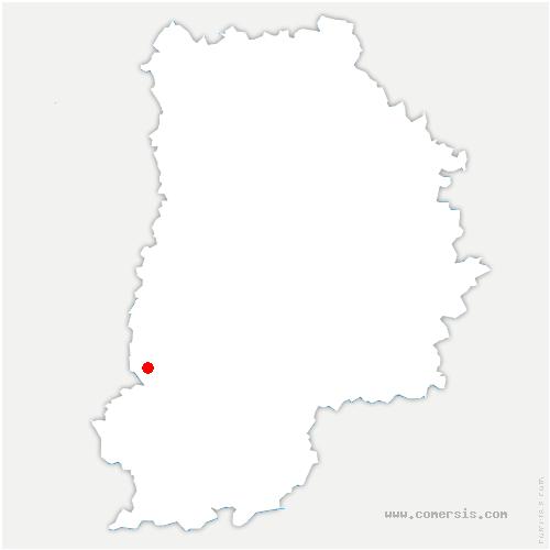carte de localisation de Saint-Martin-en-Bière