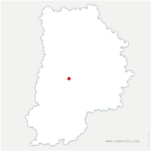 carte de localisation de Saint-Méry
