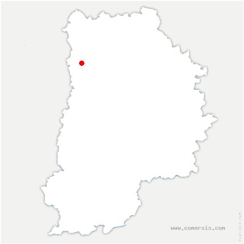 carte de localisation de Saint-Thibault-des-Vignes