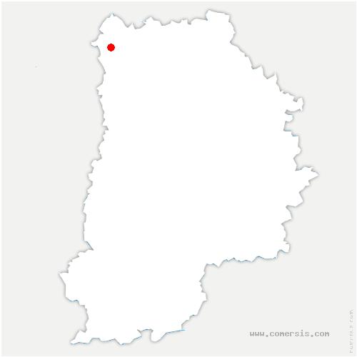 carte de localisation de Thieux