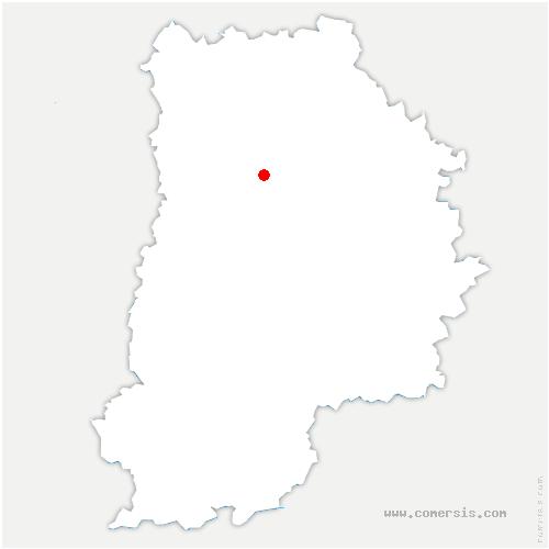 carte de localisation de Tigeaux