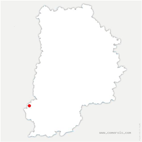 carte de localisation de Tousson