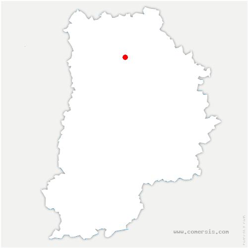 carte de localisation de Vaucourtois