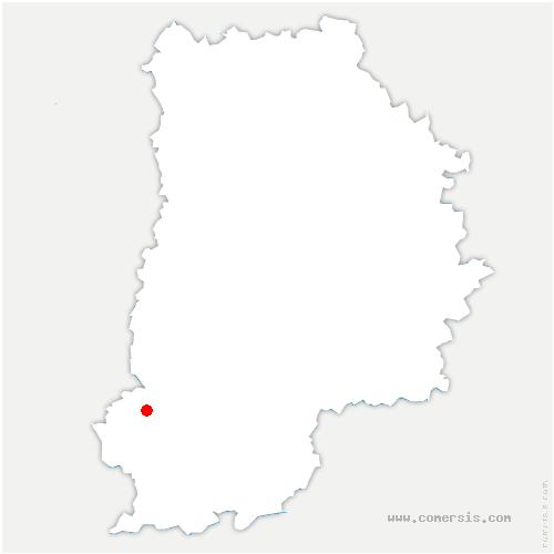 carte de localisation de Vaudoué