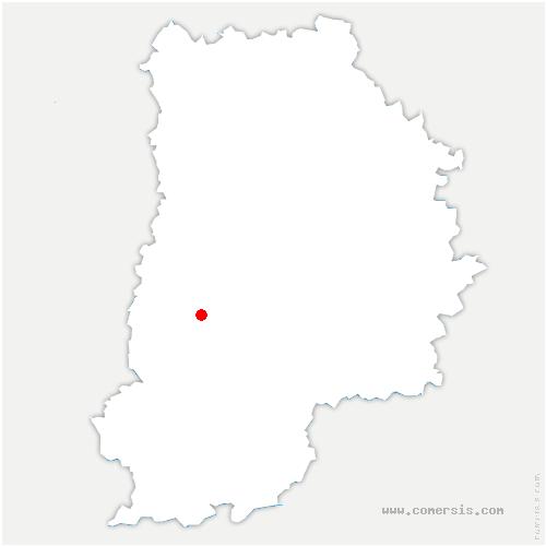 carte de localisation de Vaux-le-Pénil