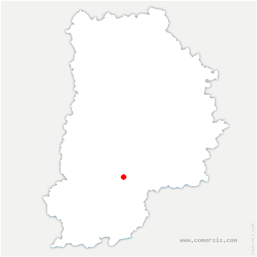 carte de localisation de Vernou-la-Celle-sur-Seine
