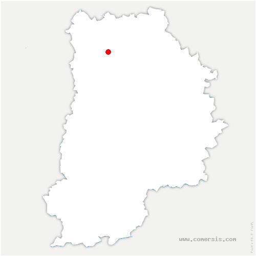 carte de localisation de Vignely