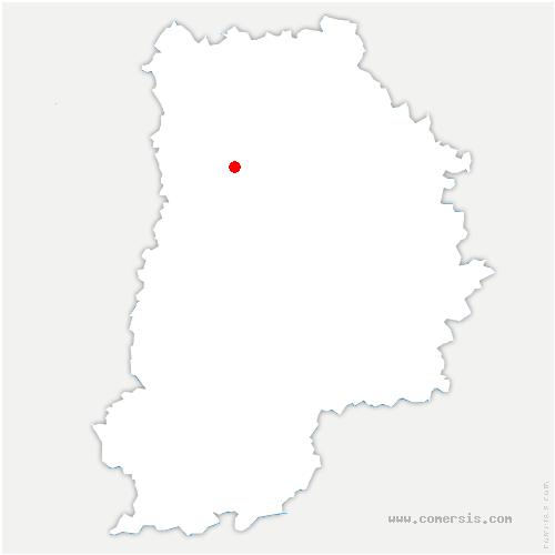 carte de localisation de Villeneuve-le-Comte