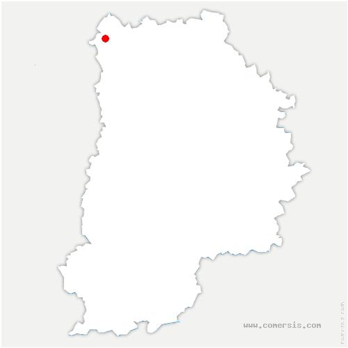 carte de localisation de Villeneuve-sous-Dammartin