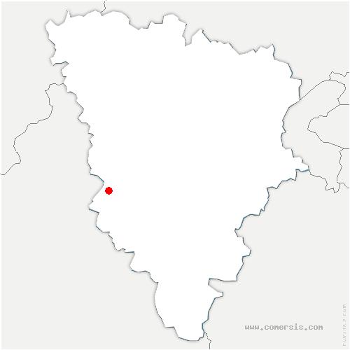 carte de localisation de Adainville