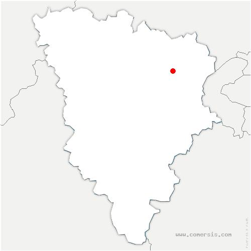 carte de localisation de Aigremont