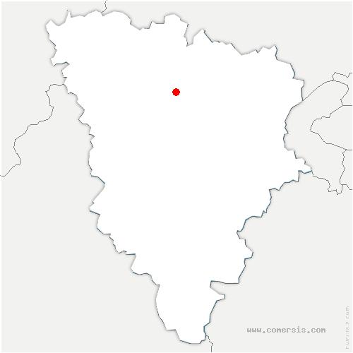 carte de localisation de Aulnay-sur-Mauldre