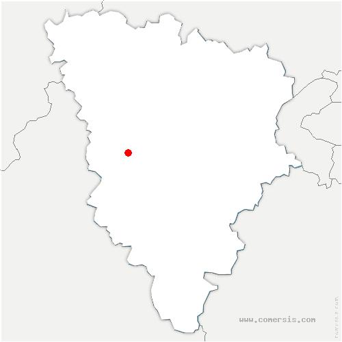 carte de localisation de Bazainville