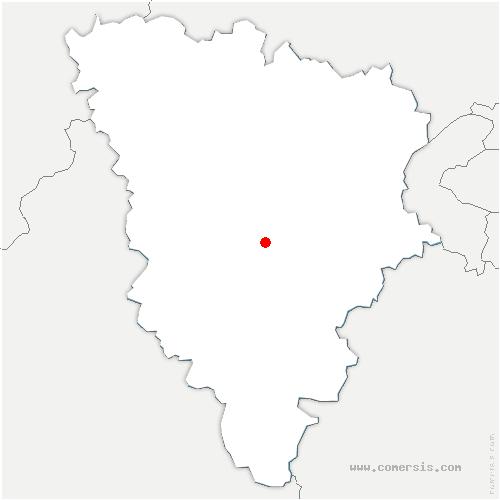 carte de localisation de Bazoches-sur-Guyonne