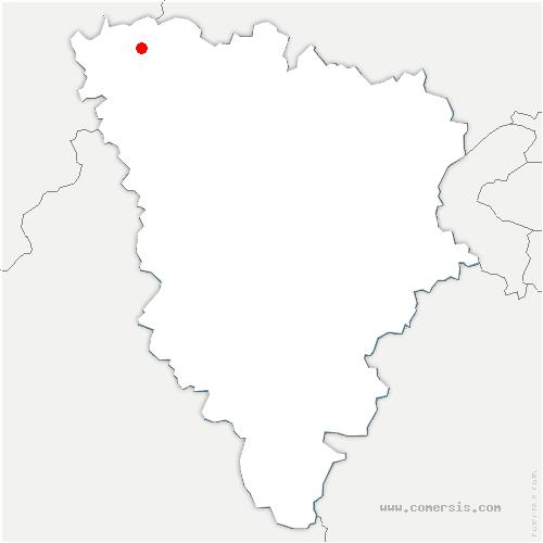 carte de localisation de Bennecourt