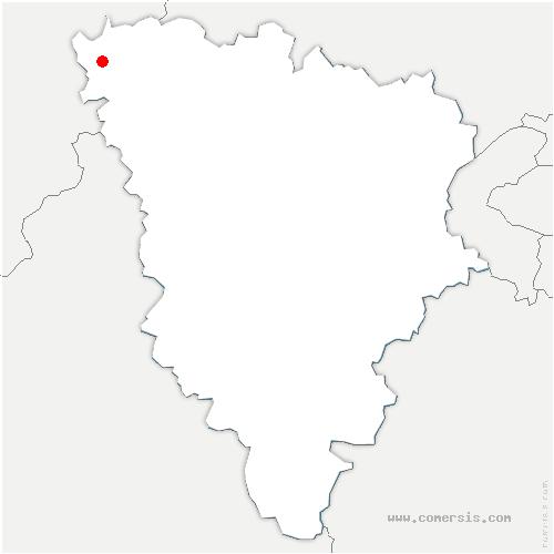 carte de localisation de Blaru