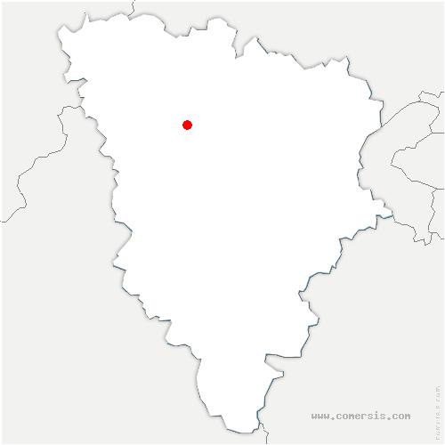 carte de localisation de Boinville-en-Mantois
