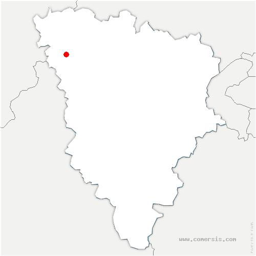 carte de localisation de Boissy-Mauvoisin