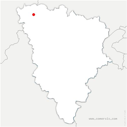 carte de localisation de Bonnières-sur-Seine