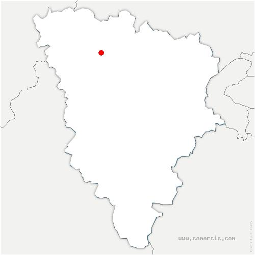 carte de localisation de Breuil-Bois-Robert