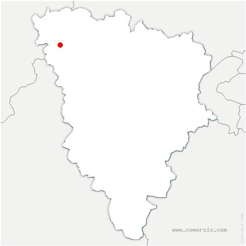 carte de localisation de Bréval