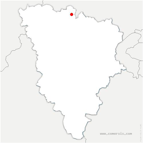 carte de localisation de Brueil-en-Vexin