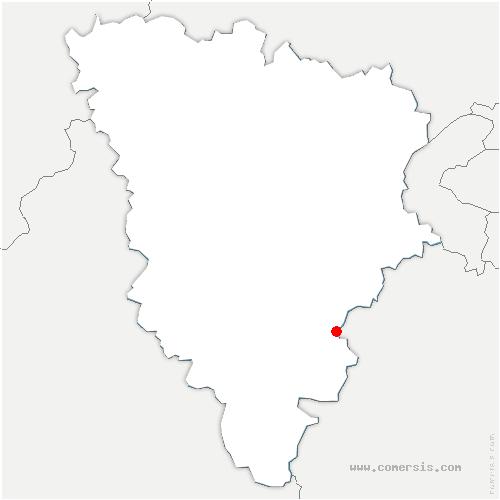 carte de localisation de Bullion