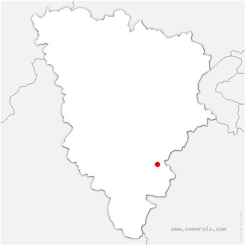 carte de localisation de Celle-les-Bordes