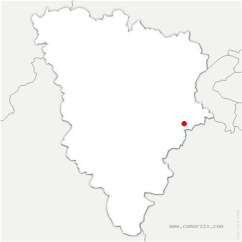 carte de localisation de Châteaufort
