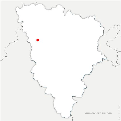 carte de localisation de Civry-la-Forêt