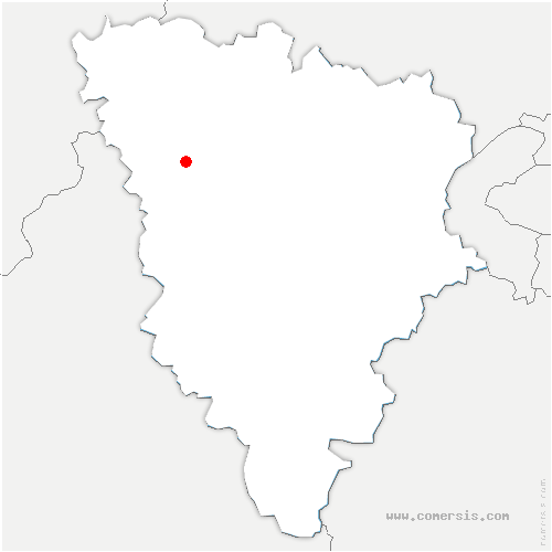 carte de localisation de Courgent