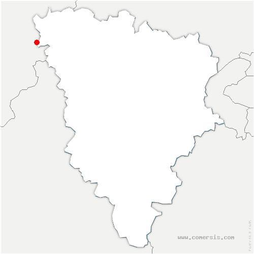 carte de localisation de Cravent