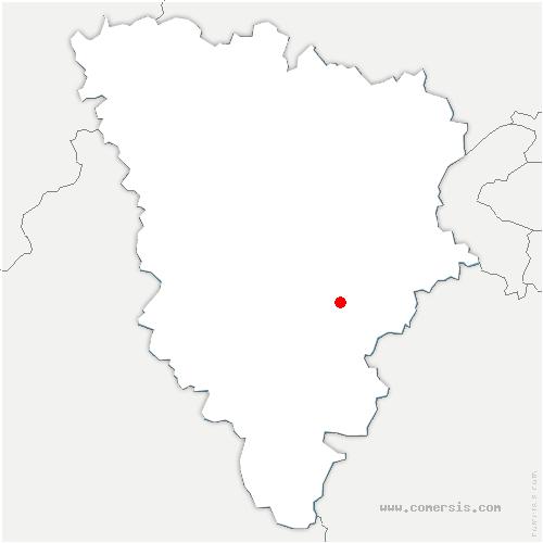 carte de localisation de Dampierre-en-Yvelines