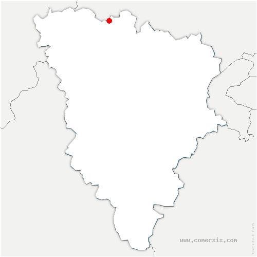 carte de localisation de Drocourt