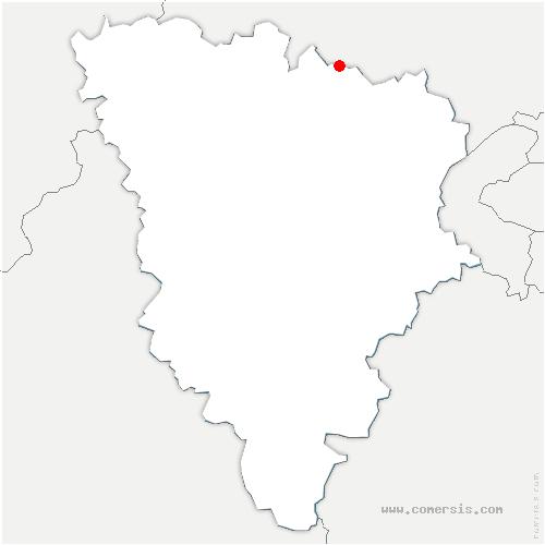 carte de localisation de Évecquemont