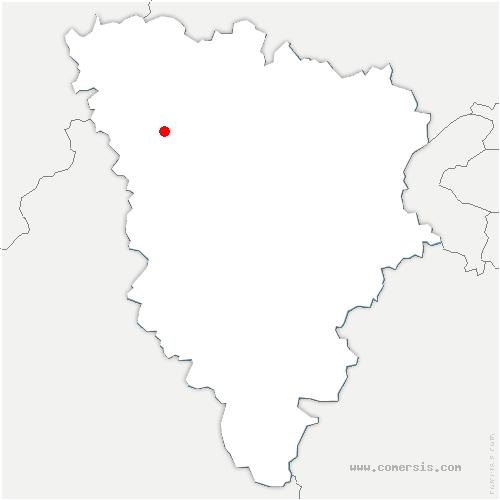 carte de localisation de Flacourt