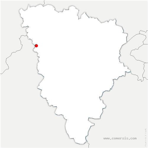 carte de localisation de Flins-Neuve-Église