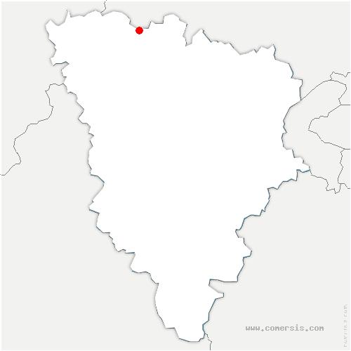 carte de localisation de Follainville-Dennemont