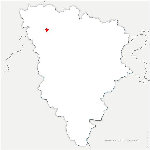 carte de localisation de Fontenay-Mauvoisin