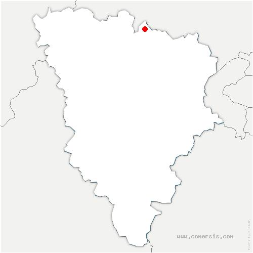 carte de localisation de Gaillon-sur-Montcient