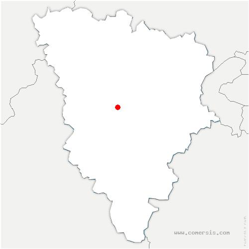 carte de localisation de Galluis