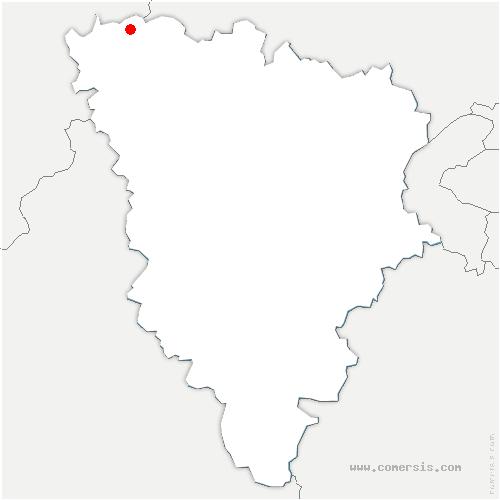 carte de localisation de Gommecourt