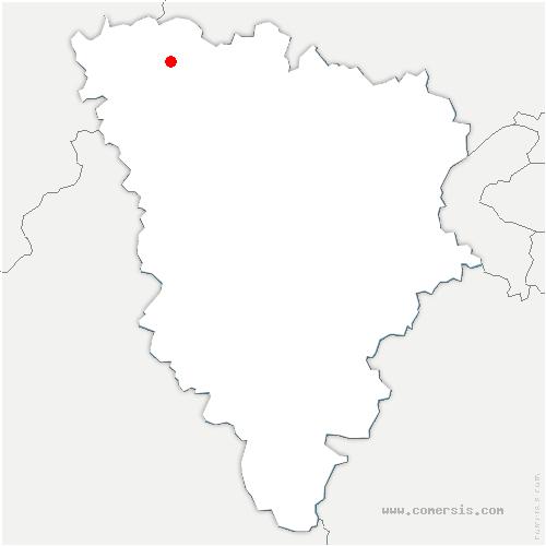 carte de localisation de Guernes
