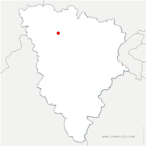 carte de localisation de Guerville