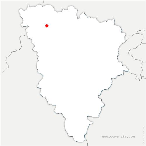 carte de localisation de Jouy-Mauvoisin