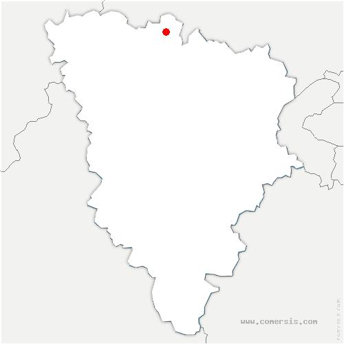 carte de localisation de Lainville-en-Vexin
