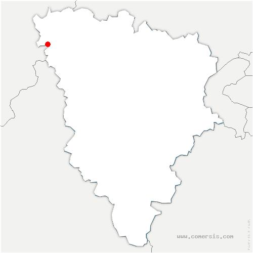 carte de localisation de Lommoye
