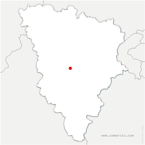 carte de localisation de Méré